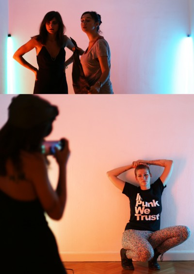 Backstage shooting GOLDIEautomne/hiver 2015photos ©Gaëlle Simon