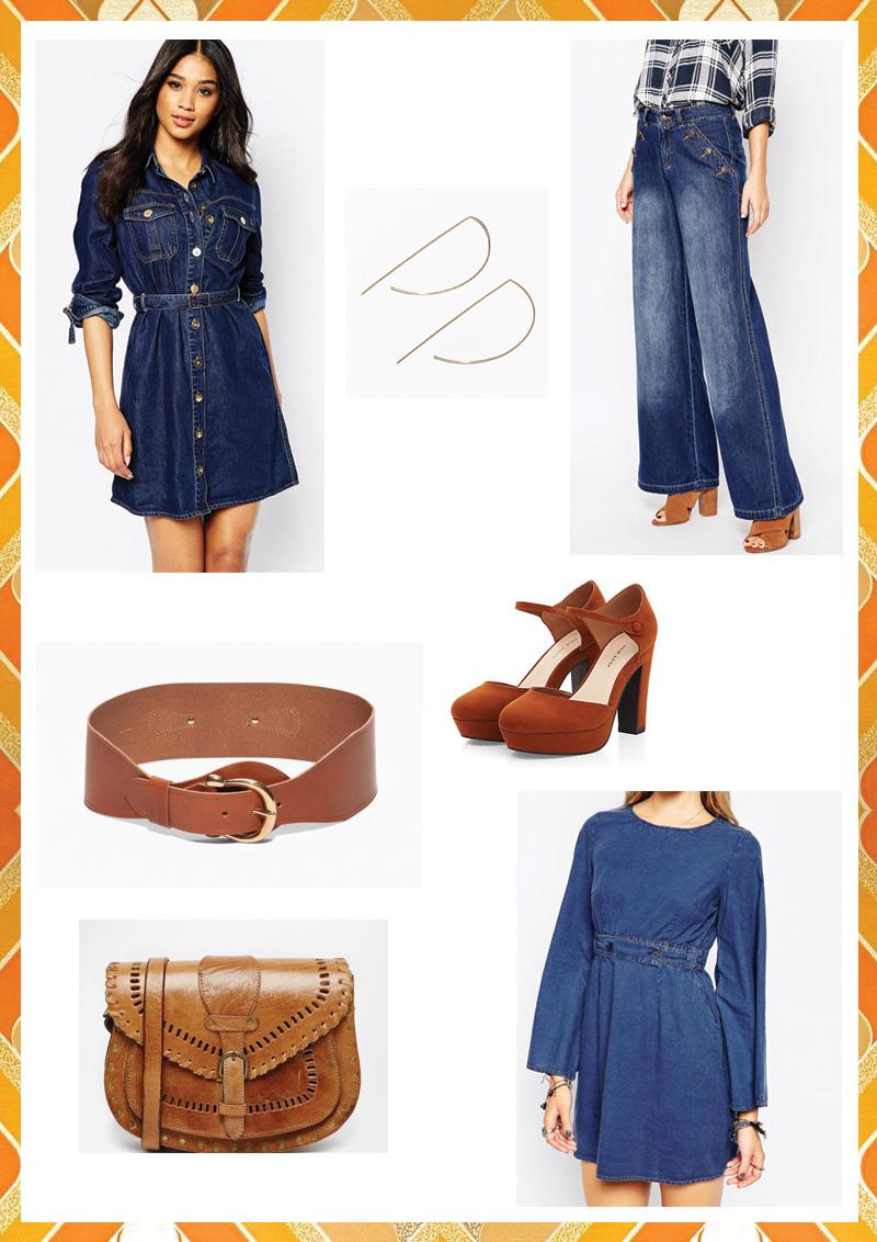 Look 70's : tenue décontractée casual jeans