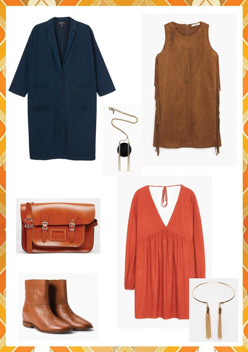 Look 70's : tenue un peu plus classe, boho