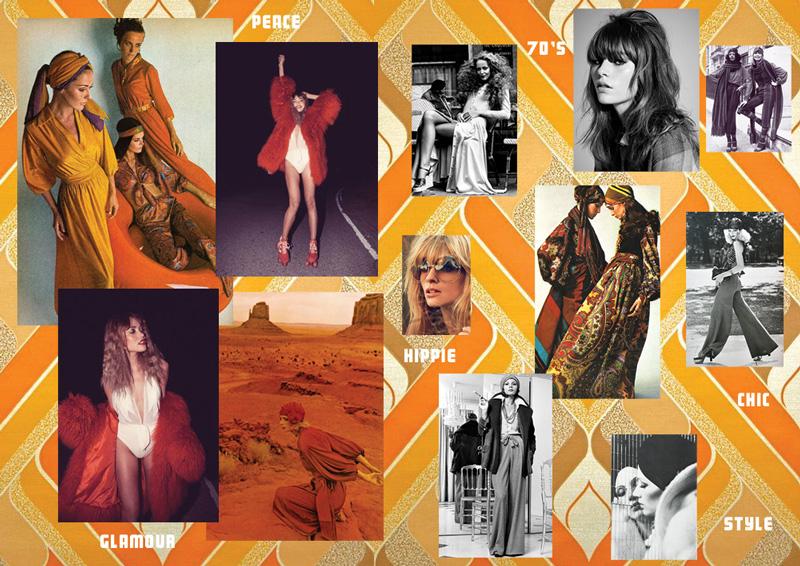 Moodboard ambiance 70's