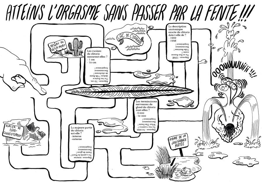 extrait du fanzine L'Antisèche du clito / ©Les Infemmes. Les Infemmes, l'art du clito